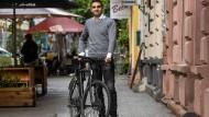 Nisar Naffati und sein Fahrrad