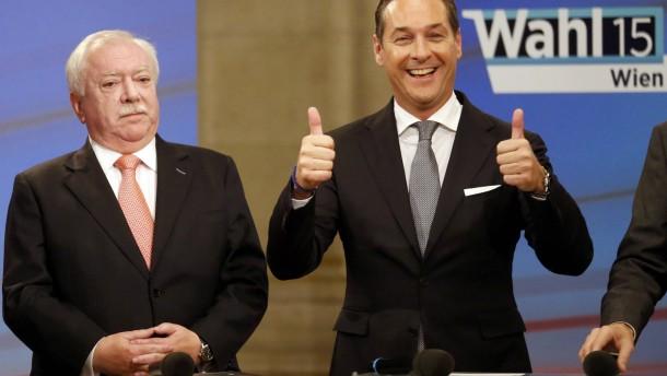 FPÖ erzielt Zuwächse auf Kosten der SPÖ