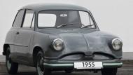 Suche nach dem Käfer-Nachfolger: Der VW-Prototyp aus den 50er-Jahren sah noch ein bisschen aus wie ein Trabbi.