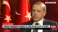 Tayip Recep Erdogan im Gespräch mit dem amerikanischen Nachrichtensender CNN.