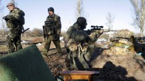 Ukrainische Militäreinheiten nahe Donezk