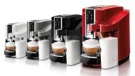 In vier Farben für 199 Euro pro Stück: Tchibos Cafissimo Latte