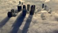 Über den Wolken: der Londoner Finanzdistrikt Canary Wharf