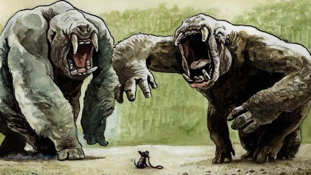Staat und Recht, zwei Monster mit Hündchen