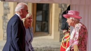 Joe und Jill Biden von der Queen