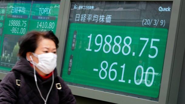 Tokios Börse bricht ein