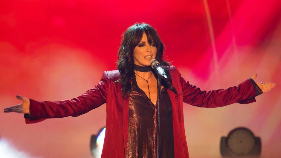 Die Sängerin Nena bei einem Auftritt im Jahr 2017