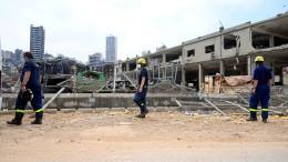 THW prüft Gebäude in Beirut
