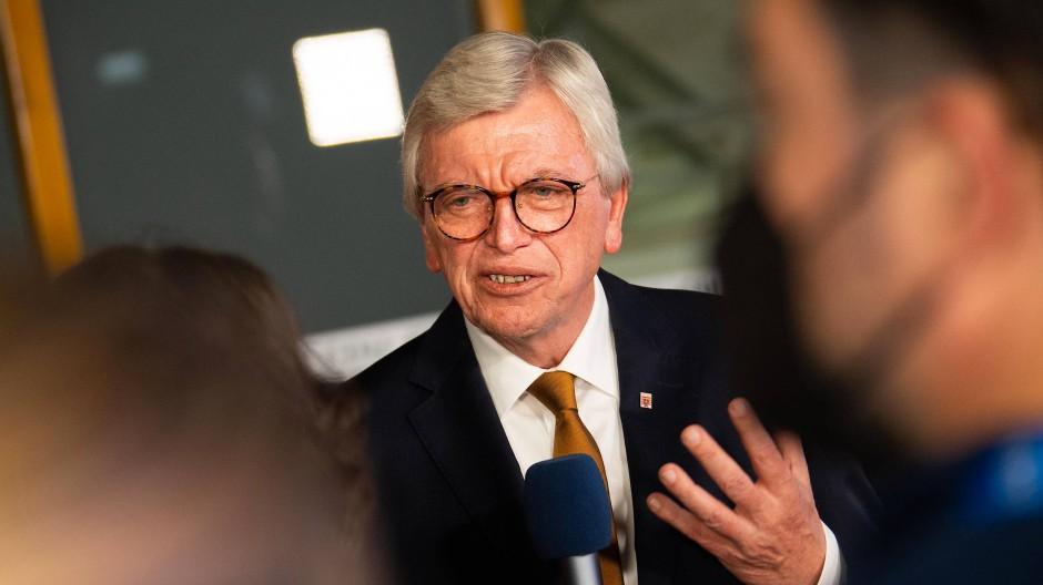 Der Ministerpräsident Hessens, Volker Bouffier, am Wahlabend im Konrad-Adenauer-Haus.