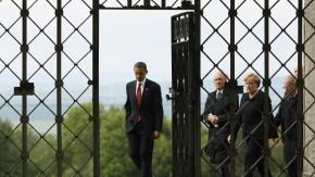 Barack Obama, Elie Wiesel, Angela Merkel