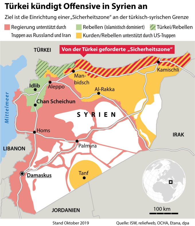 Syrien Karte 2016.Krieg In Syrien Gefahren Der Dritten Turkischen Invasion