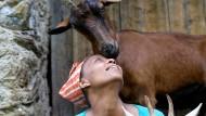 Mit 15 Ziegen fing sie an, später waren es 180: Agitu Idea Gudeta 2018 mit einigen ihrer Tiere