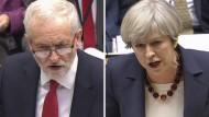 Vor Wahl in Großbritannien: May und Corbyn im Duell