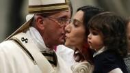 Papst betet für mehr Nachsicht und Milde