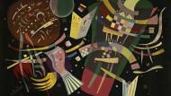 """Hörend sehen: Auch Wassily Kandinsky war mutmaßlich Synästhetiker und verwandelte in seiner """"Komposition X"""" von 1939 Töne in Farben und Formen."""