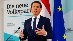 Kurz hält an umstrittenem Innenminister Kickl fest