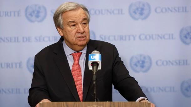 "UN-Generalsekretär ""zutiefst besorgt"" über Situation in Belarus"