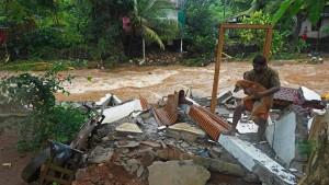 Heftige Überflutungen in Südindien