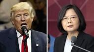 Der designierte amerikanische Präsident Donald Trump und Taiwans Staatschefin Tsai Ing-wen