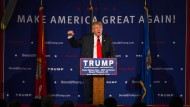 Der republikanische Präsidentschaftsbewerber Donald Trump bei einem Wahlkampfauftritt in den Vereinigten Staaten