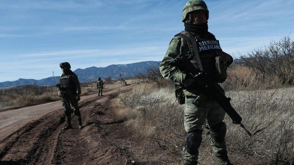 Mitglieder der mexikanischen Nationalgarde im Bundesstaat Sonora im Norden Mexikos