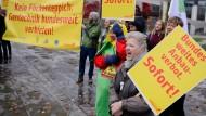 Protest gegen Gentechnik-Regelung der Regierung