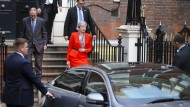 Theresa May am Freitagmorgen in London