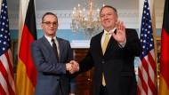 Bundesaußenminister Heiko Maas (SPD), amerikanischer Außenminister Mike Pompeo Ende Januar in Washington