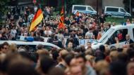 Erstmals Demonstration für Flüchtlinge in Freital
