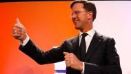 Rutte gewinnt gegen Rechtspopulisten Wilders