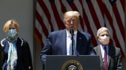 Plötzlich ist Trump doch für Masken