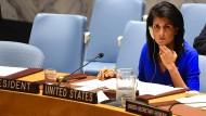 Um Nikki Haley ist es manchmal einsam im UN-Sicherheitsrat.