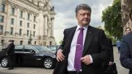 Einer der reichsten Männer der Ukraine: Petro Poroschenko am Mittwoch in Berlin