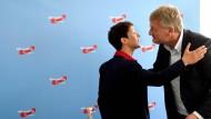 Neuer Frieden: Zuletzt war zwischen den AfD-Vorsitzenden Petry und Meuthen ein Streit über die Spaltung der Fraktion in Stuttgart entbrannt.