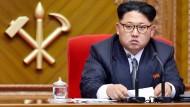 Wegen Menschenrechtsverletzungen von der amerikanischen Regierung mit Sanktionen belegt: Kim Jong Un.
