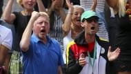 Boris Becker beim Davis Cup-Spiel im September gegen Portugal.
