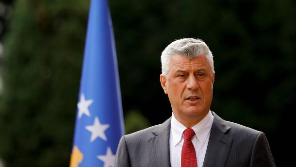 Kosovos Präsident Thaci tritt zurück