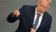 Grünen-Politiker Jürgen Trittin 2014 während einer Bundestagsdebatte