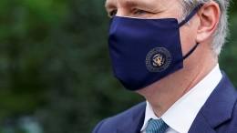 Nationaler Sicherheitsberater positiv auf Coronavirus getestet
