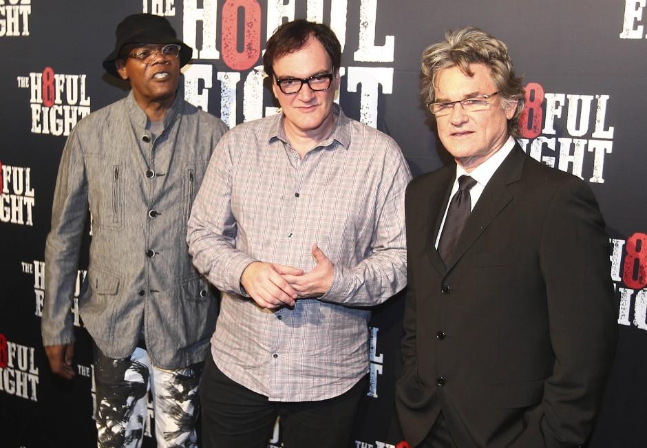 """Samuel L. Jackson, Quentin Tarantino und  Kurt Russell bei der Premiere von 'The Hateful Eight"""" in Sidney"""