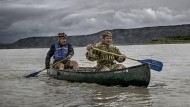 Abenteuer unter Freunden: Drei Wochen waren Till Lindemann und Joey Kelly auf dem Yukon unterwegs. Herausgekommen ist ein Bildband, der im National Geographic Verlag erschien.