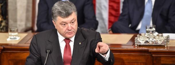 Der ukrainische Präsident Petro Poroschenko warnt vor dem amerikanischen Kongress vor der russischen Aggression
