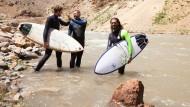 Amu mit seinen Freunden Jacob Kelly und Benjamin Di-Qual in Afghanistan