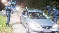 Bundespolizei errichtet Sperren auf der A7
