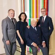 Der Präsident: Philippe Cassegrain 2018 mit seinen Kindern Olivier, Sophie und Jean.