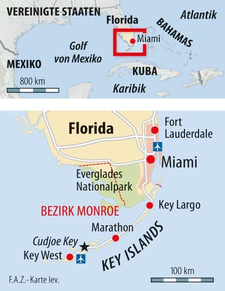 Infografik / Florida / Bezirk Monroe