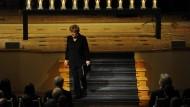Die Bundeskanzlerin auf der Gedenkveranstaltung im Konzerthaus am Gendarmenmarkt in Berlin