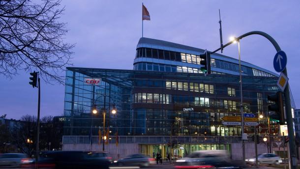 Ermittler durchsuchen Berliner CDU-Zentrale