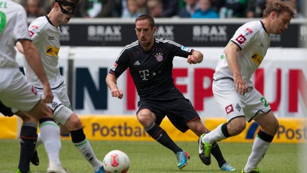 Fussball 1. Bundesliga / Borussia Moenchengladbach - FC Bayern Muenchen