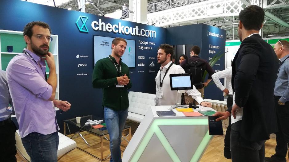 Checkout.com auf einer Messe in England: Der Zahlungsdienstleister ist das wertvollste Fintech Europas.